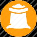 food, food sack, grocery, ingredient, salt sack, sugar bag, sugar pack icon