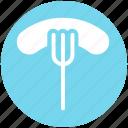 food, fork, frankfurter, hotdog, sausage, wiener icon