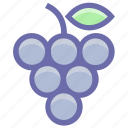 berries, flavor, food, fruit, fruits, grape, grapes, slot icon
