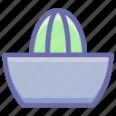 bowl, citrus juices, juice, kitchen, kitchenware, lemon, squeezer, utensil icon