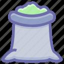 flour sack, food, food sack, grocery, ingredient, salt sack, sugar bag, sugar pack, sugar sack icon