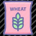 bag, bakery, flour, food, grain, sack, sack of wheat, wheat, wheat bag, wheat sack icon