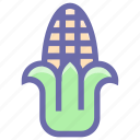 agriculture, corn, food, maize, starch, sweet corn, syrup, vegetables icon
