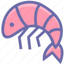 crustacean, food, foodix, prawn, seafood, shrimp icon