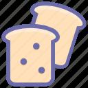 bakery, bread, breakfast, cooking, food, lunch, sandwich, toast icon