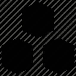 grid, hexagon shape, hexagonal, shape icon