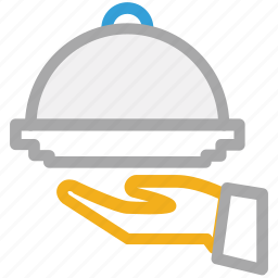 food serving, hotel, hotel service, serving dish icon