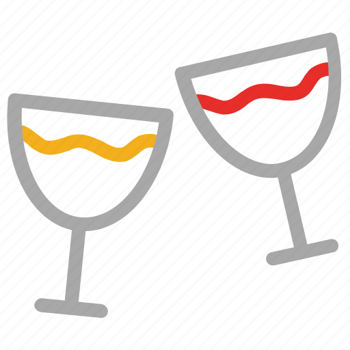 beverage, brindis, drink, party glasses icon