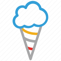 cone, cone icecream, dessert, icecream icon