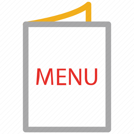 bill of fare, carte du jour, menu, menu card icon