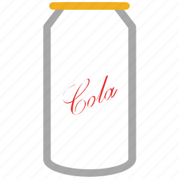 beverage, cola can, cola tin, drink icon