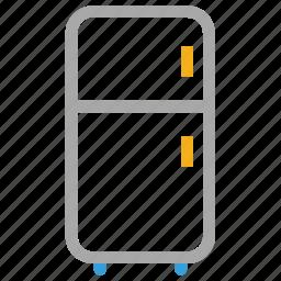 fridge, fridge and freezer, kitchen, refrigerator icon