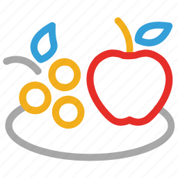 apple, fruit, fruits, grapes icon