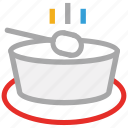hot soup, soup, soup bowl, spoon icon