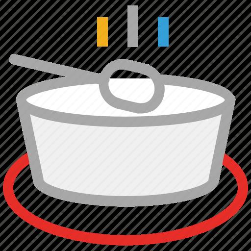 hot soup, soup, soup bowl, spoon icon