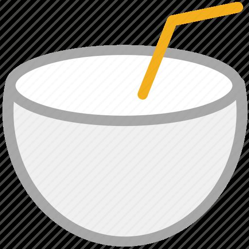 coconut drink, coconut fruit drink, coconut water, healthy juice icon