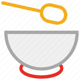 food, soup, soup bowl, spoon icon