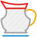 jug, jug of milk, jug of water, kitchen tool icon