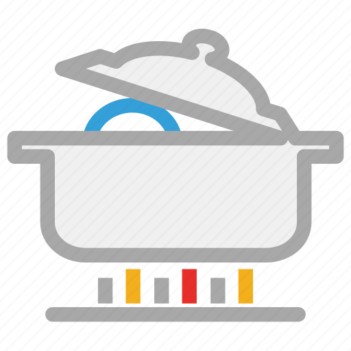cooking food, cooking pot, hot food, stove icon