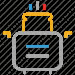 bread, food, toast, toaster icon