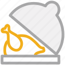 chicken, chicken roast, roasted chicken, turkey food icon