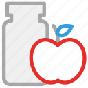 apple jam, jam, jam jar, marmalade icon