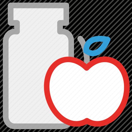 apple jam, jam, jam jar, marmalade icon