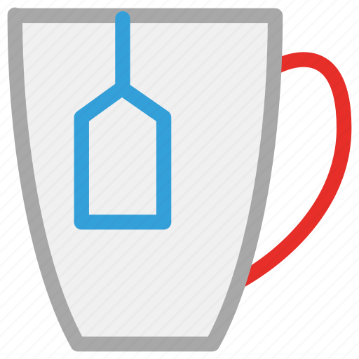 cup, cup of tea, tea, teabag in cup icon