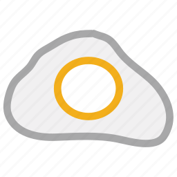 dairy food, egg, food, fried egg icon