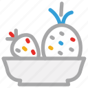 food, fruits, pineapple, strawberry icon