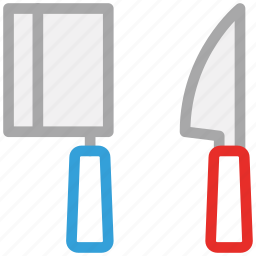 cutting tools, knife, meat cutting knife, slicing knife icon