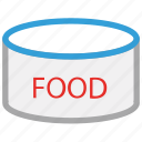 canned food, food, food tin, tin of food icon