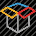 box, cube box, delivery, open box icon