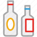 alcohol, beverage, bottles, wine icon