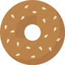 bagel, sesame icon