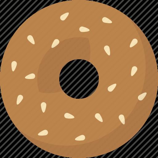 bagel, sesame icon