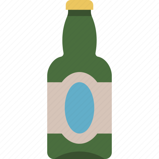 alcohol, beer, bottle icon