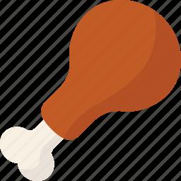 chicken, drumstick icon