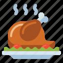 chicken, dinner, turkey, whole
