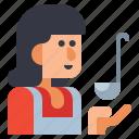 cook, female, home icon