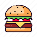 beef burger, burger, cheese burger, fast food, food, meal, restaurant icon