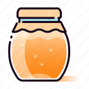 apiary, container, glass, honey, jam, jar, sweets icon