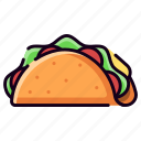 cheese, meal, meat, mexican food, restaurant, taco, tacos icon