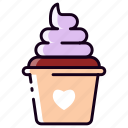 blueberry, chocolate, cream, dessert, ice cream, sweet, yoghurt icon