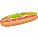 dessert, food, hot dog, meal icon