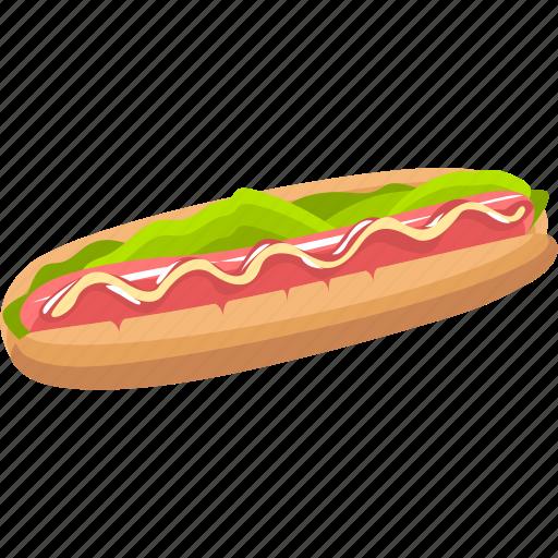 dessert, food, hot dog, meal icon