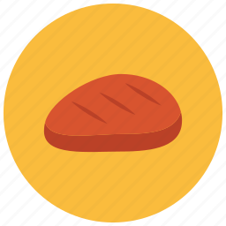 beef, food, meals, steak icon