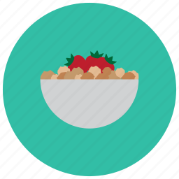 bowl, food, meals, snack, strawberry icon