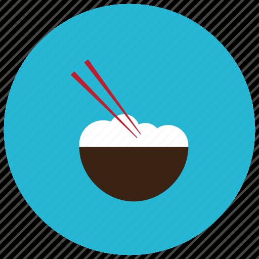 asian, bowl, chopsticks, food, meals, noodle icon