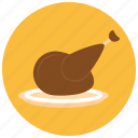 chicken, food, leg, meals icon